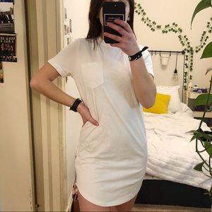 white Tee Shirt Dress